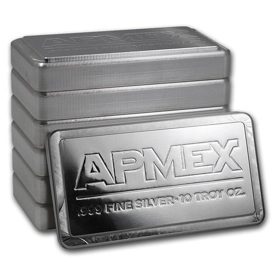 10 oz Silver Bar - APMEX (Stackable)