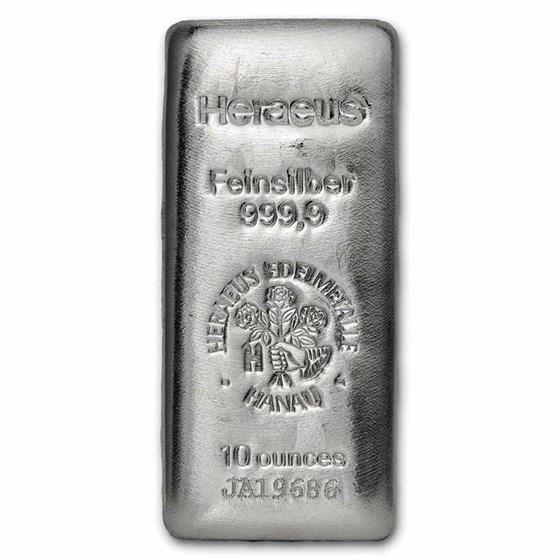 10 oz Silver Bar - Argor-Heraeus w/ COA