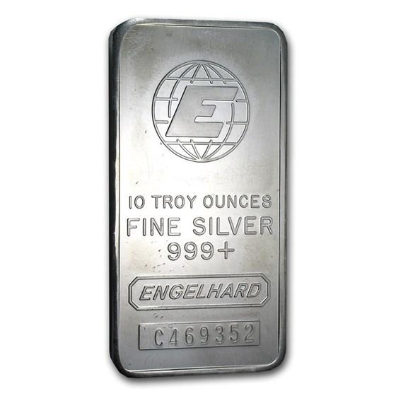 10 oz Silver Bar - Engelhard (Tall-E Logo)