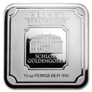 10 oz Silver Bar - Geiger Edelmetalle (Original Square Series)