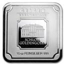 10 oz Silver Bar - Geiger Edelmetalle (Original Square Series)