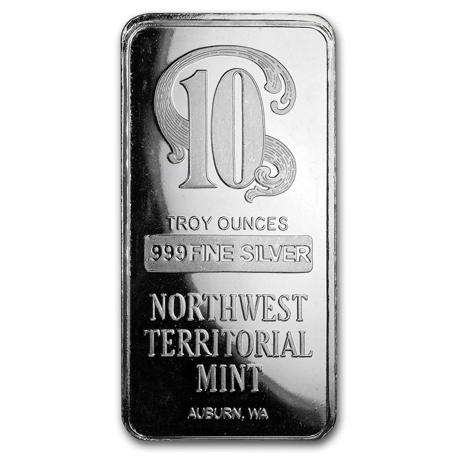 10 oz Silver Bar - Northwest Territorial Mint
