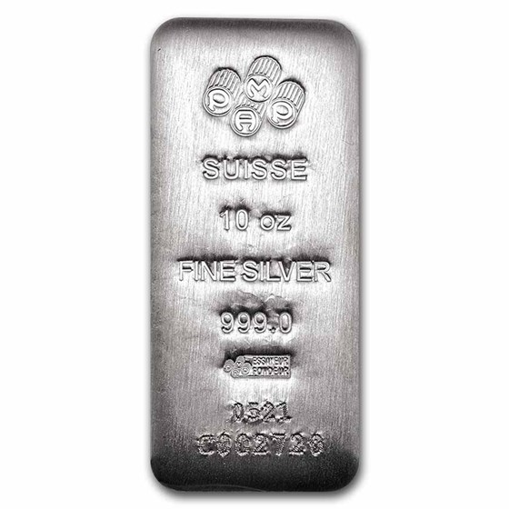 10 oz Silver Bar - PAMP Suisse (Serialized)