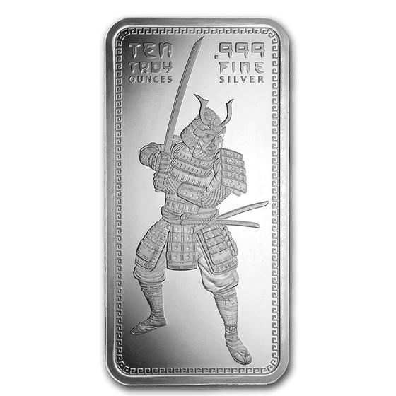 10 oz Silver Bar - Samurai Warrior