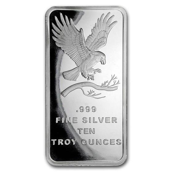 10 oz Silver Bar - SilverTowne Eagle