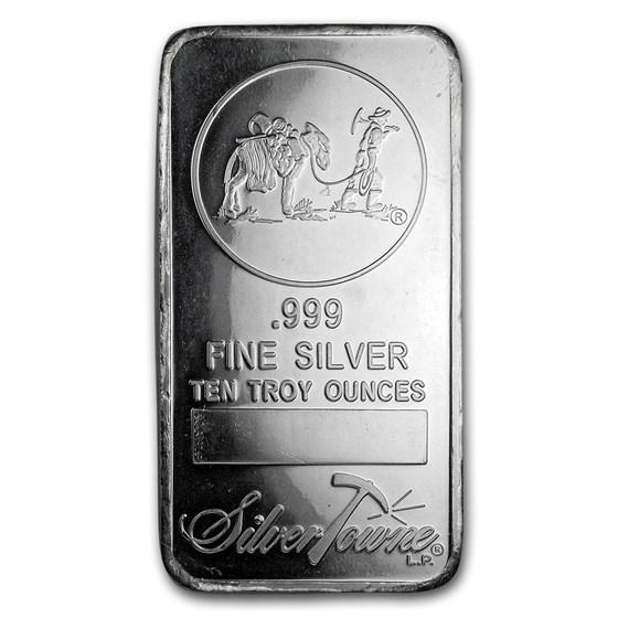 10 oz Silver Bar - SilverTowne Prospector