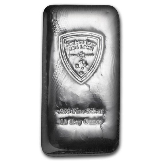 10 oz Silver Bar - Southern Cross Bullion (Cast)