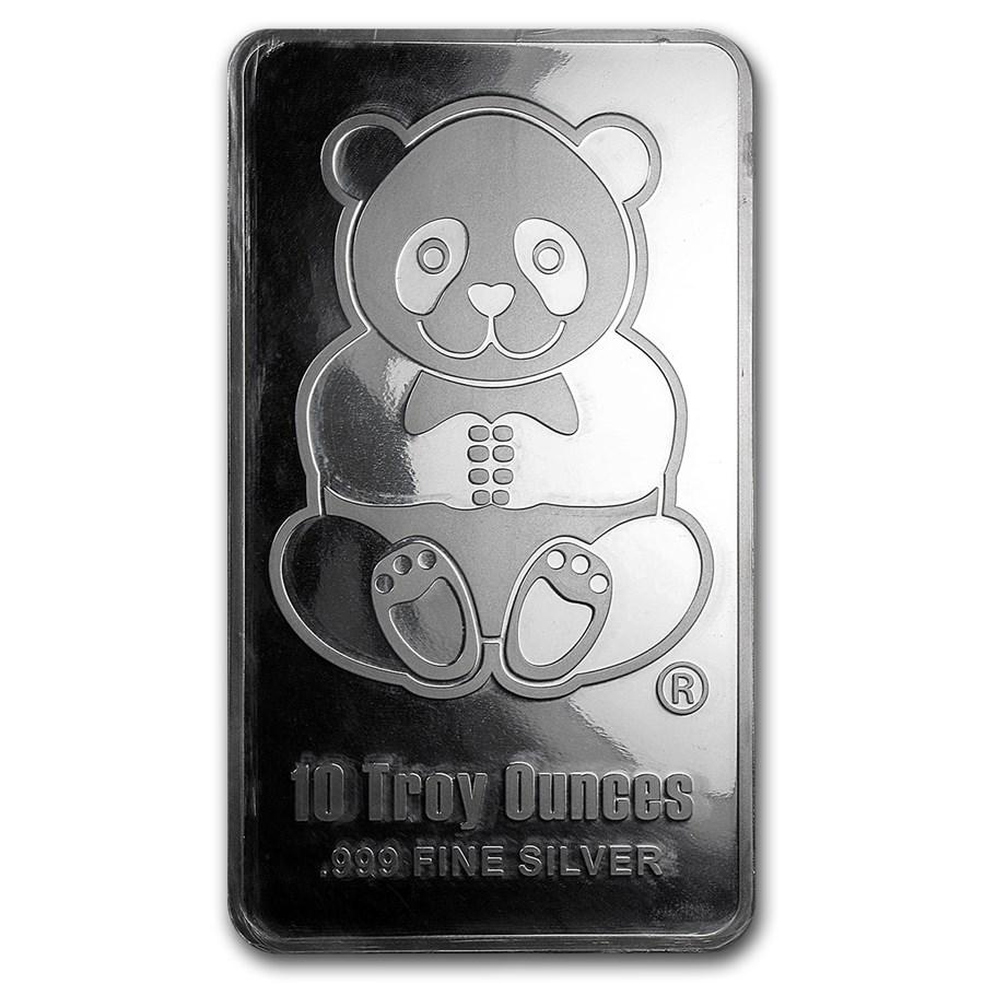 10 oz Silver Bar - Sunshine (Panda, Proof-like)