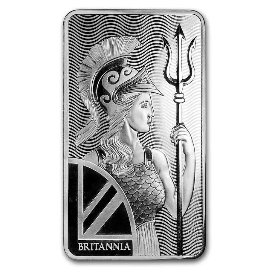 10 oz Silver Bar - The Royal Mint Britannia