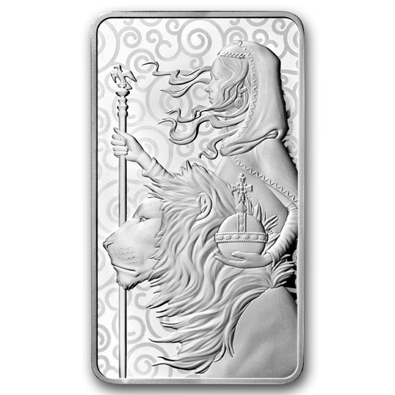 10 oz Silver Bar - The Royal Mint Una and the Lion