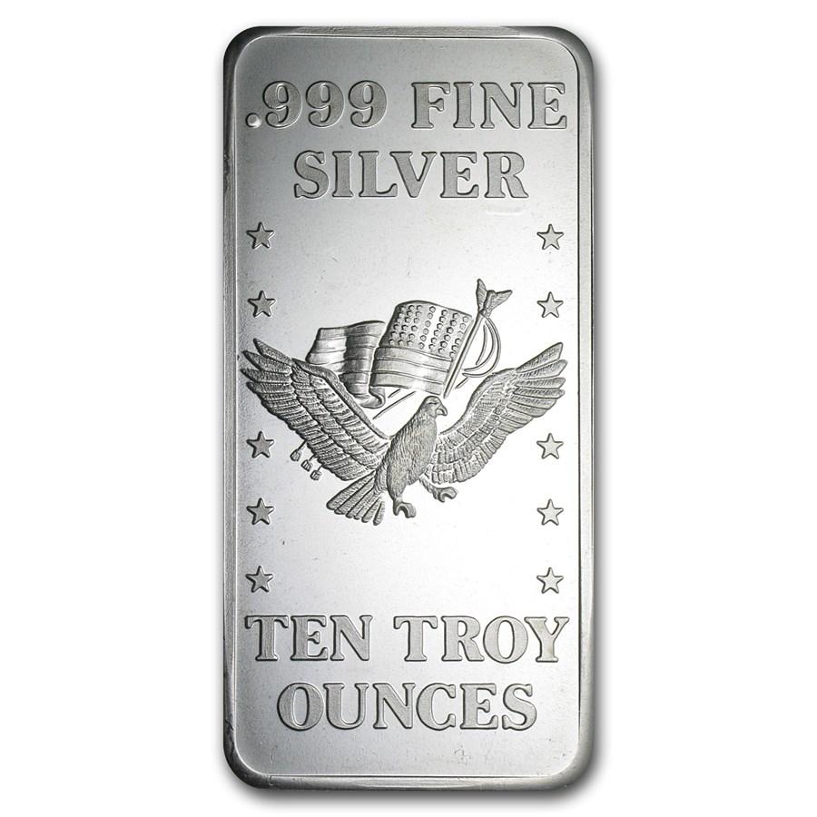 10 oz Silver Bar - U.S. Assay Office