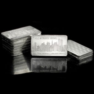 10 oz Silver Bar - Wall Street Mint (Type 1)