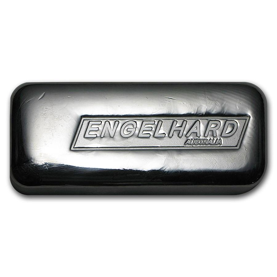 10 oz Silver Cast-Poured Bar - Engelhard-Australia