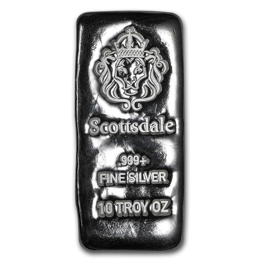 10 oz Silver Cast-Poured Bar - Scottsdale