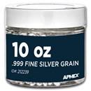 10 oz Silver Grain/Shot .999+ Fine