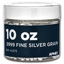10 oz Silver Grain/Shot .9999+ Fine