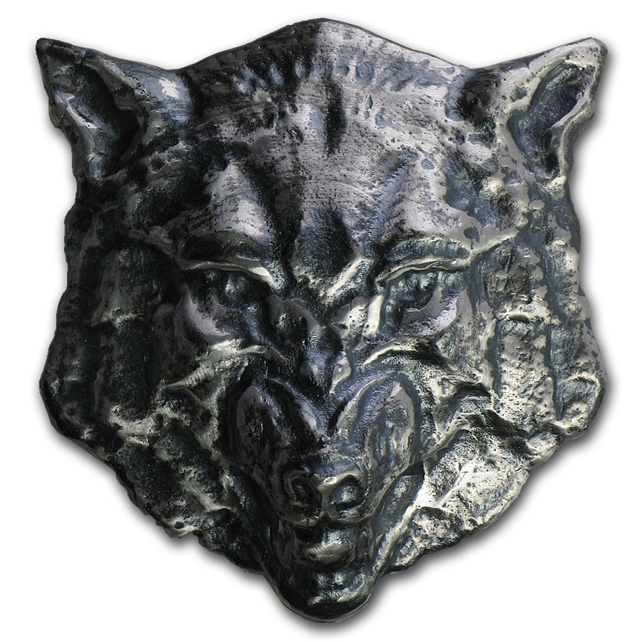 10 oz Silver - MK Barz & Bullion (3D Wolf)