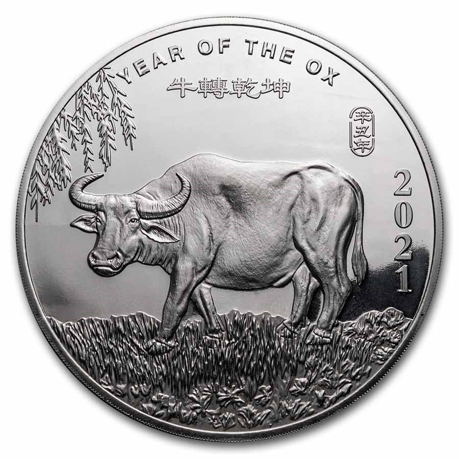 10 oz Silver Round - APMEX (2021 Year of the Ox)