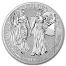 10 oz Silver Round - Germania Allegories 2019 BU (Columbia)