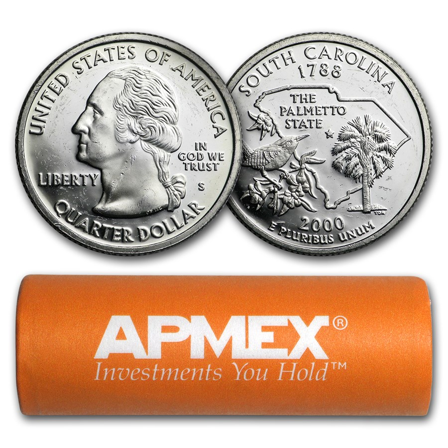 $10 Proof Quarters - 90% Silver 40-Coin Roll (Impaired)