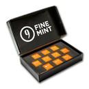 100 gram Cast-Poured Silver Bar - 9Fine Mint (10 pc. Multi-Pak)