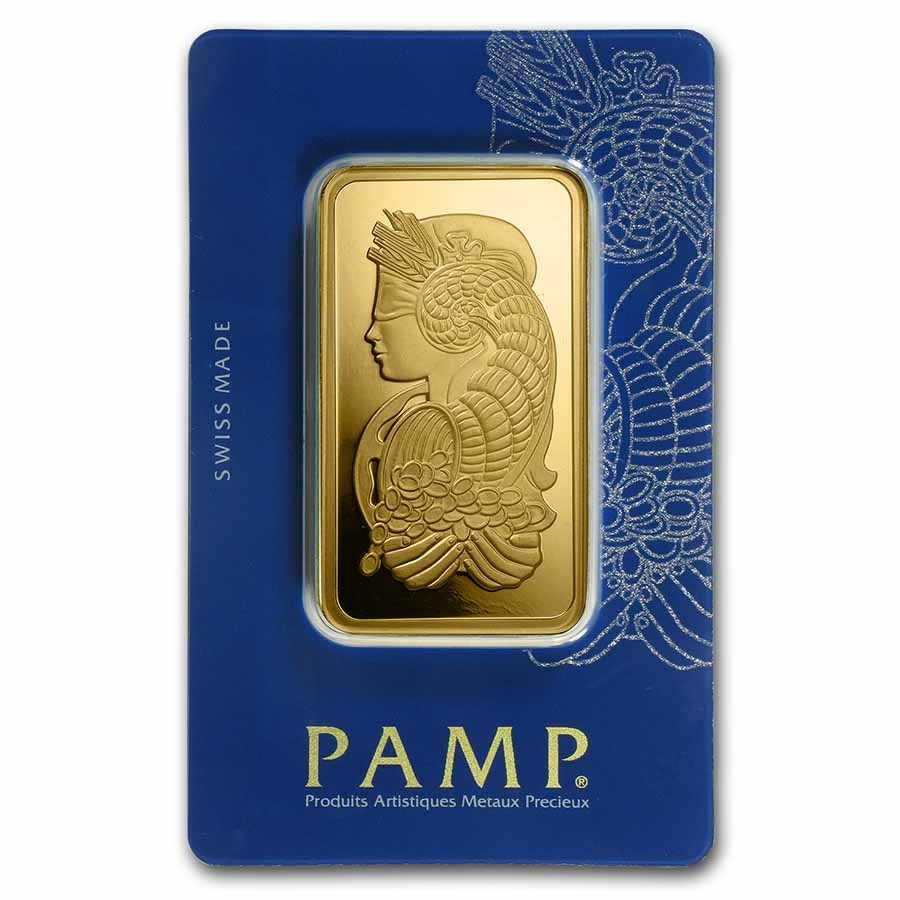 100 gram Gold Bar - PAMP Suisse Lady Fortuna Veriscan® (In Assay)