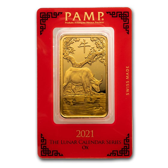 100 gram Gold Bar - PAMP Suisse Year of the Ox (In Assay)