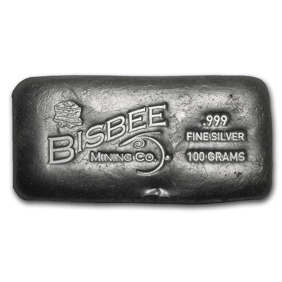 100 gram Silver Bar - Bisbee