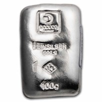 100 gram Silver Bar - Doduco/LEV