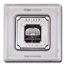100 gram Silver Bar - Geiger Edelmetalle (Original Square Assay)