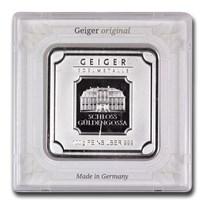 100 gram Silver Bar - Geiger Edelmetalle (Original Square Assay)