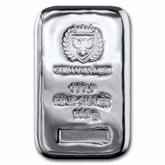 100 gram Silver Bar - Germania Mint (Serialized)