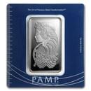 100 gram Silver Bar - PAMP Suisse (Fortuna, In Assay)