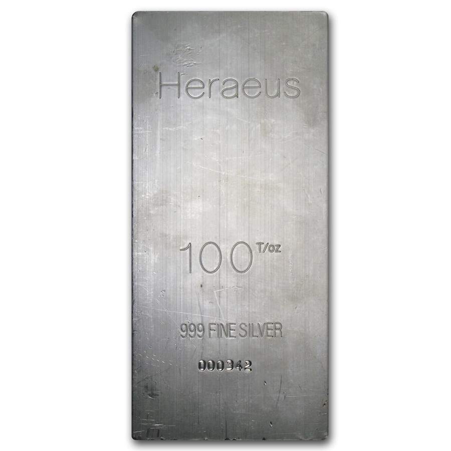 100 oz Silver Bar - Argor-Heraeus (Extruded)