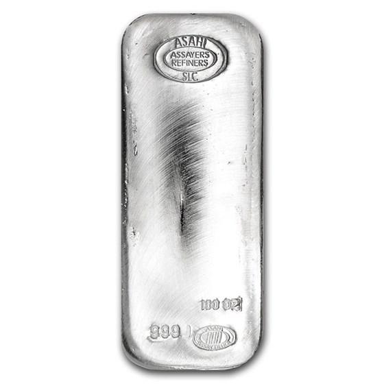 100 oz Silver Bar - Asahi