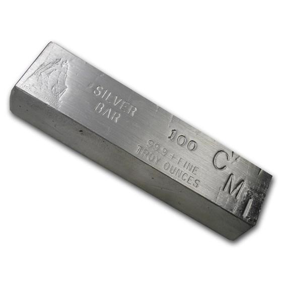 100 oz Silver Bar - CMI