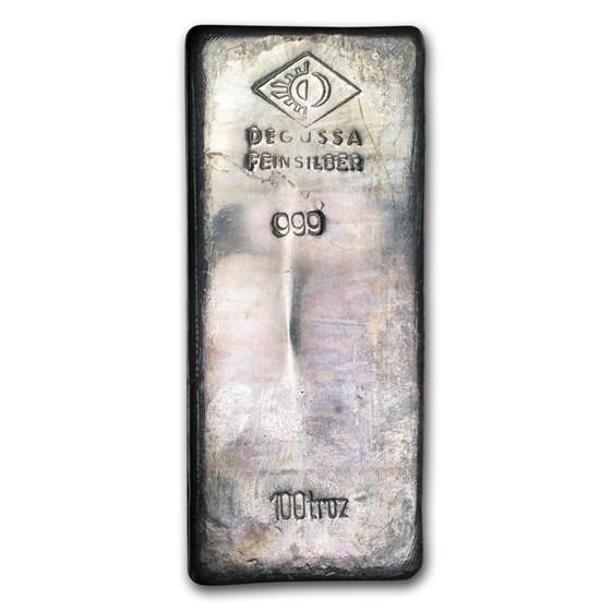 100 oz Silver Bar - Degussa