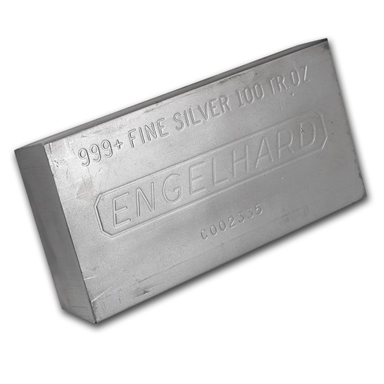 100 oz Silver Bar - Engelhard (Struck)