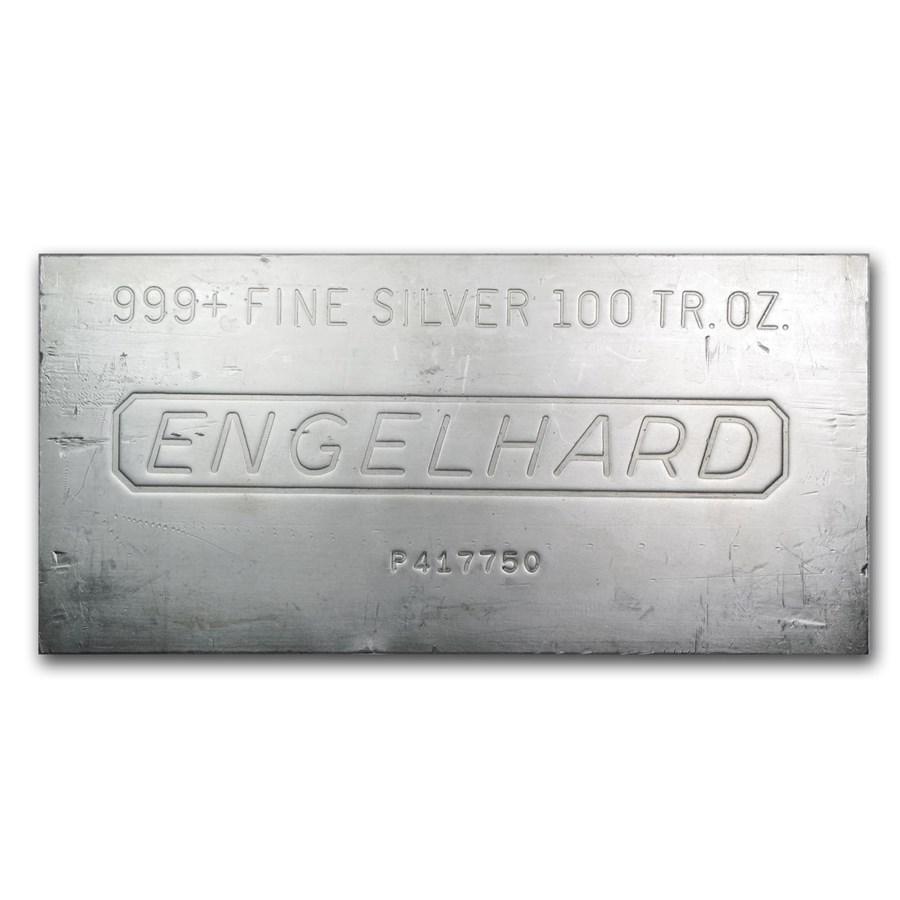 100 oz Silver Bar - Engelhard