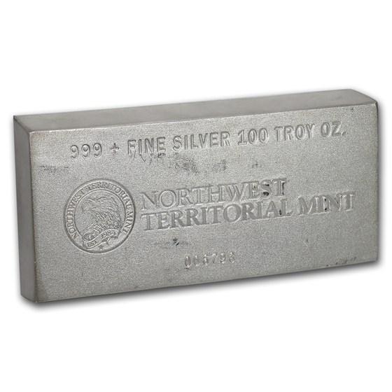 100 oz Silver Bar - Northwest Territorial Mint