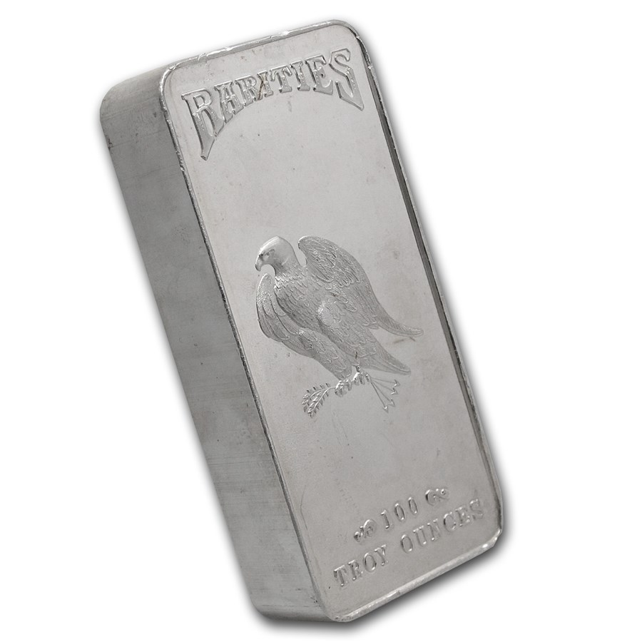 100 oz Silver Bar - Rarities Mint
