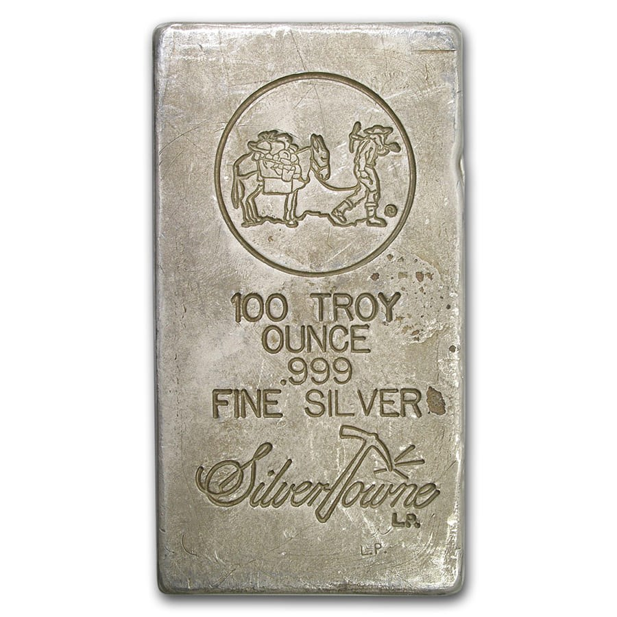 100 oz Silver Bar - SilverTowne (Poured)