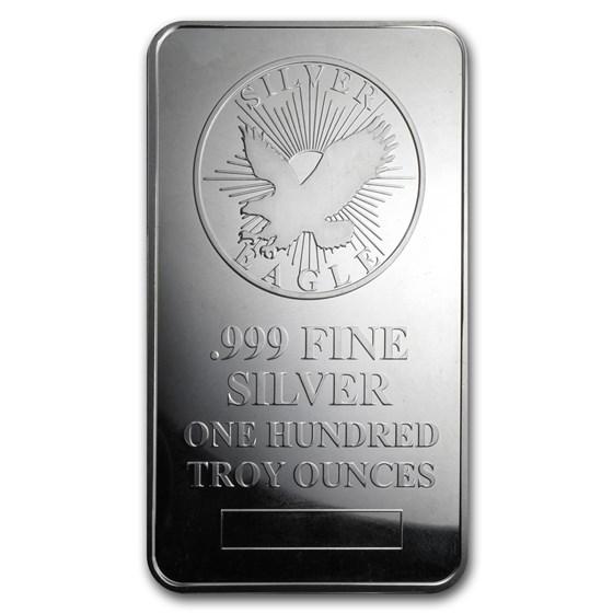 100 oz Silver Bar - Sunshine (Struck)