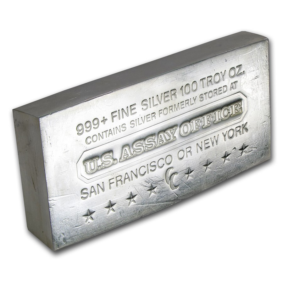 100 oz Silver Bar - U.S. Assay Office (Struck)