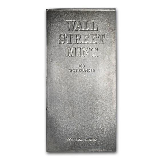 100 oz Silver Bar - Wall Street Mint