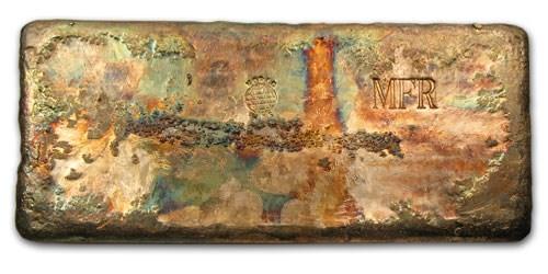100 oz Silver Bar - World Mint MFR (Poured)