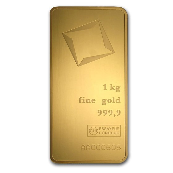 1000 gram Gold Bar - Valcambi (Pressed w/Assay)