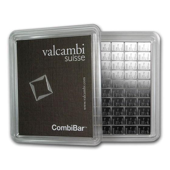 100x 1 gram Silver Bar - Valcambi Silver CombiBar™ (w/Assay)