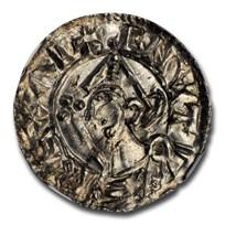 (1024-1030) Kingdom of England Silver Penny King Cnut MS-63 NGC