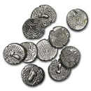 11th century India Chalukya Empire Silver Drachm XF